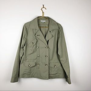 CAbi Ripstop Olive Green Utility Jacket #904